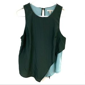 Bordeaux Small Olive/Teal Tank Asymmetrical Layer